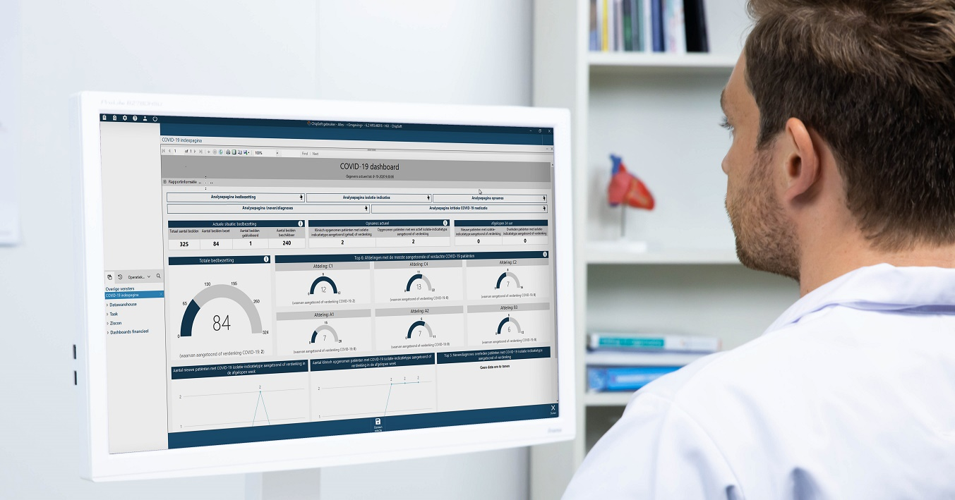 The COVID-19 dashboard is available in HiX.